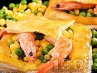 Зеленчукова бутер пита със скариди